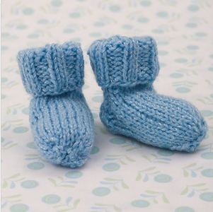 Shimmery Simple Knit Baby Booties