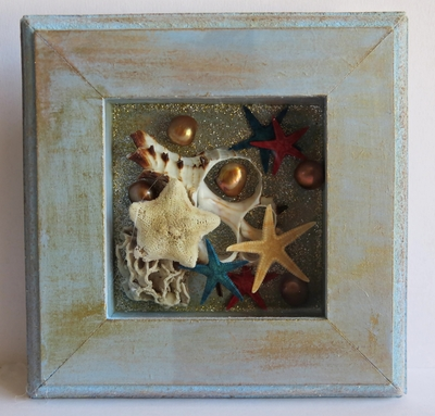 shadow box craft ideas glitter and shells shadow box craft favecrafts 5400