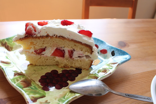 Strawberry Fields Strawberry Cream Cake