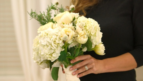 Pure and Simple White Bouquet