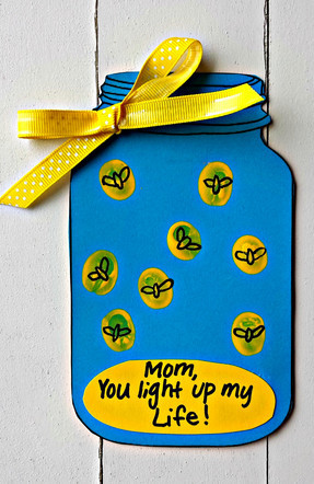 Mothers Day Light Up My Life Card