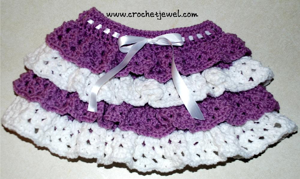 Girls Crochet Ruffle Skirt AllFreeCrochet.com