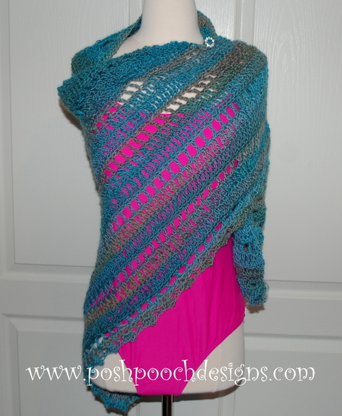 Beach Vacation Crochet Shawl