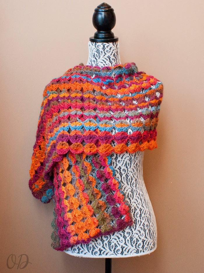 Painted Sunrise Summer Crochet Wrap Allfreecrochet Com