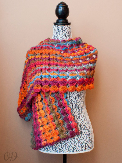 Painted Sunrise Summer Crochet Wrap