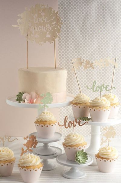 Love Grows Wedding Cake Toppers