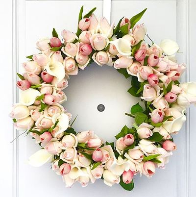 Blushing Rosebud Wreath