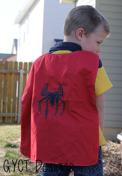 Free Superhero Cape and Printable Appliques
