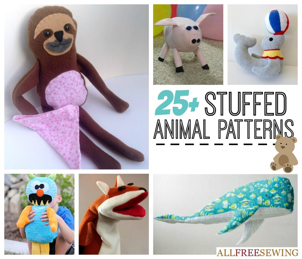25 Easy Stuffed Animal Patterns AllFreeSewingcom : Stuffed Animal Patterns PosterExtraLarge1000ID 961495 from www.allfreesewing.com size 1000 x 857 jpeg 175kB