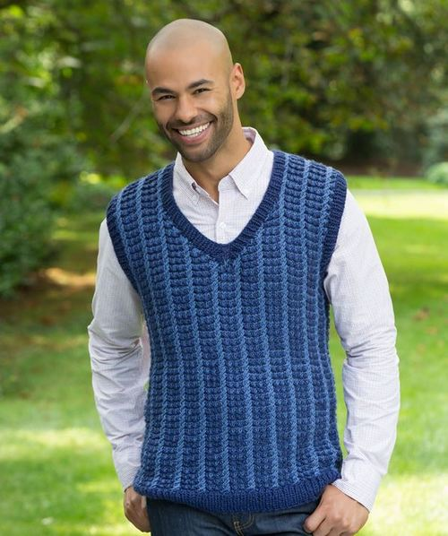 Mens Studious Knit Sweatervest