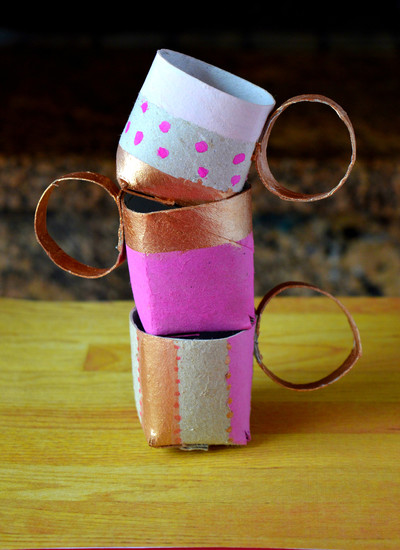 Toilet Paper Roll Tea Cups