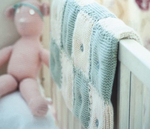 Babys Quilted Knit Blanket