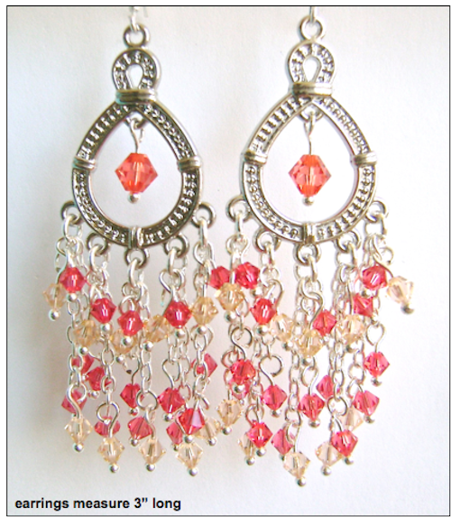 Dangling Swarovski Crystal Earrings
