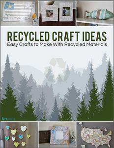 54 recycle crafts for kids for Easy recycling ideas