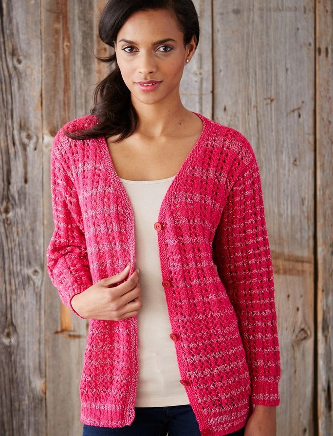 Love and Lace Knit Cardigan Pattern | AllFreeKnitting.com