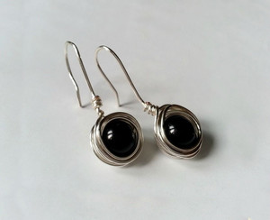 Wonderful Wire Wrapped Bead Earrings