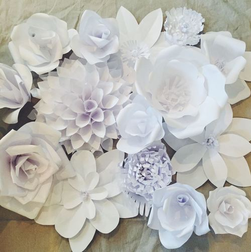 Gorgeous White Paper Flower Backdrop