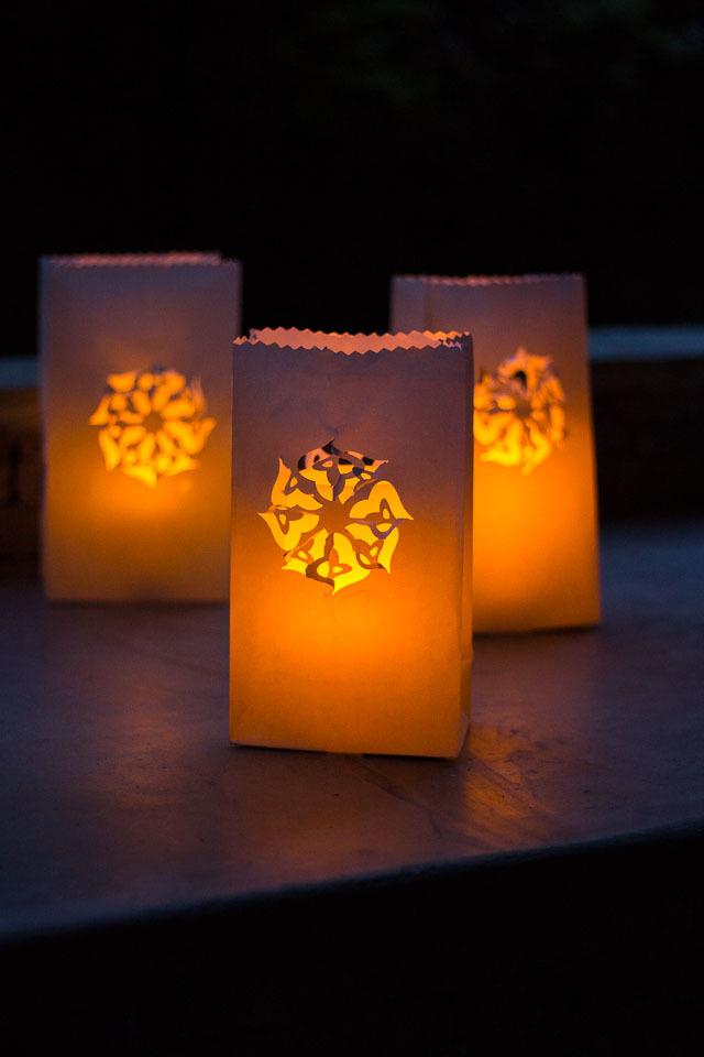 Luminary Diy Backyard Ideas Allfreeholidaycrafts Com