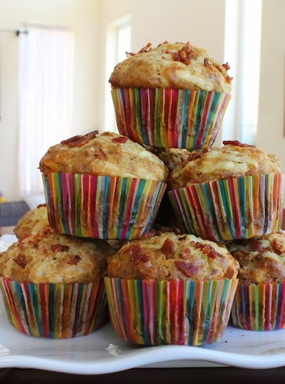 Spicy Cheesy Bacon Ranch Muffins