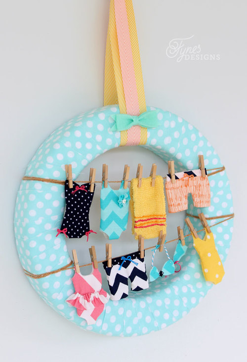 Summer Craft Swimsuit Wreath
