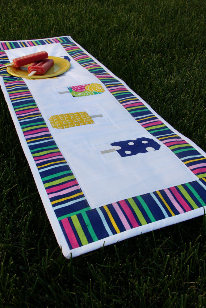 Summer Popsicle Table Runner Pattern Favequilts Com