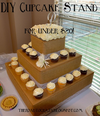 Recyled Cupcake Stand