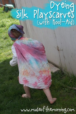 Tie Dye Scarves for Kids