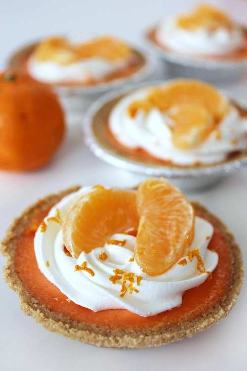 Mini Clementine Cream Tarts