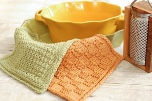 Simple and Clean Basket Weave Knit Dishcloth