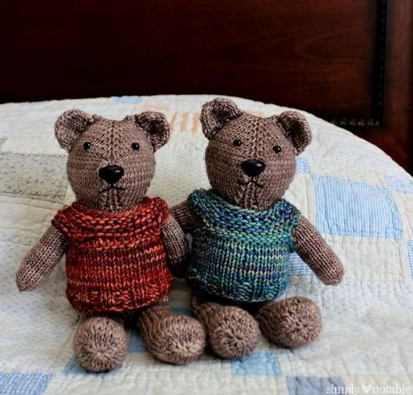Nearly No-Seams Knit Teddy