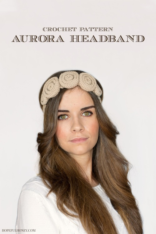 Crochet Rose Headband Pattern