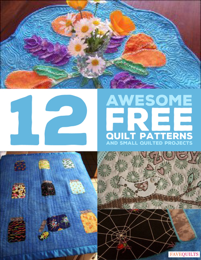 12 Awesome Free Quilt Patterns and Small Quilted Projects