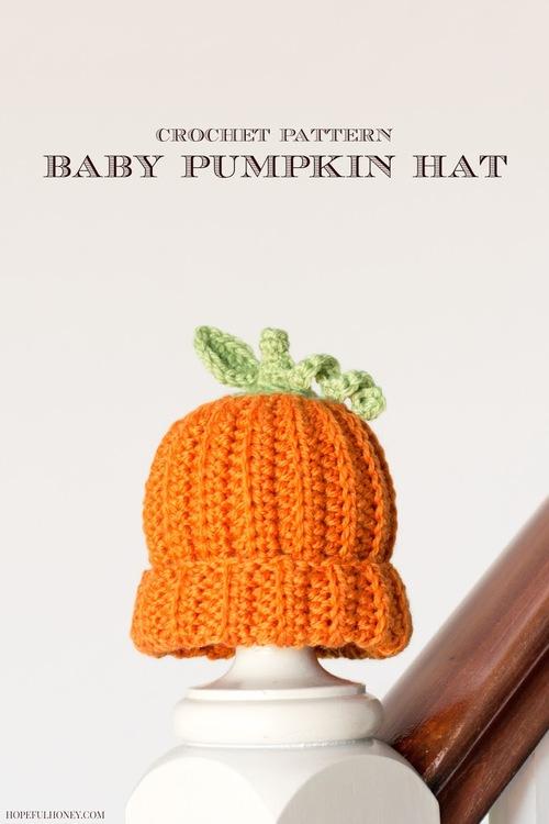 Pumpkin Baby Hat Crochet Pattern  97a61d191f7