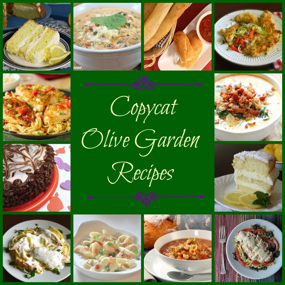 Make your own olive garden menu 50 olive garden copycat recipes What time does the olive garden close
