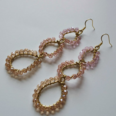 Opulent Triple Oval Drop Earrings