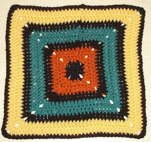 Solid Block Granny Square