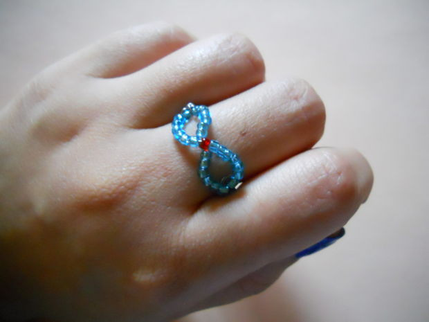 Beaded Infinity Wire Ring Allfreejewelrymaking Com