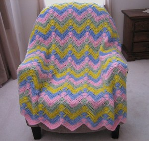 Lullaby Ripple Afghan