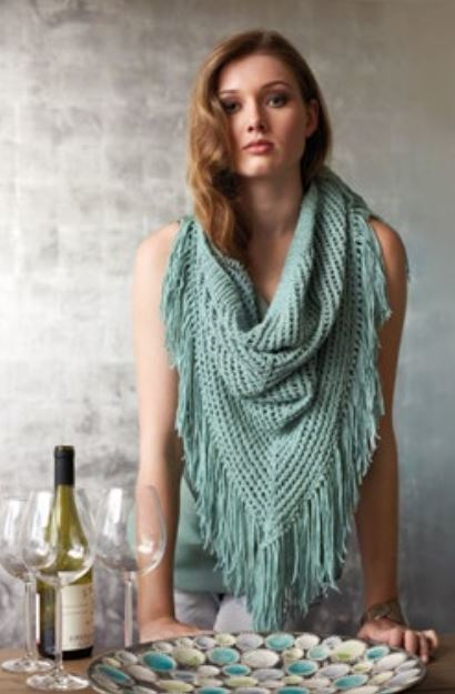 Mint Fringed Shawl Pattern
