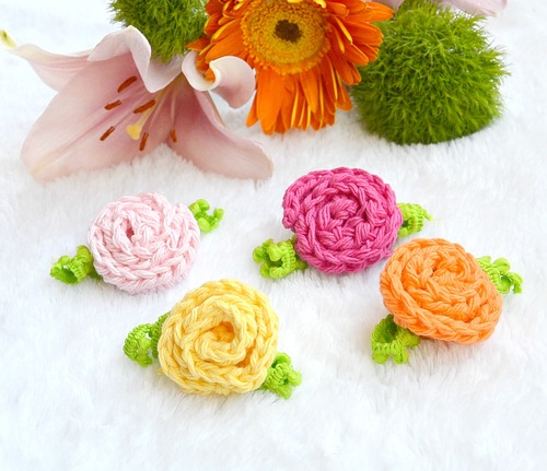 Beginner Crochet Rose_1