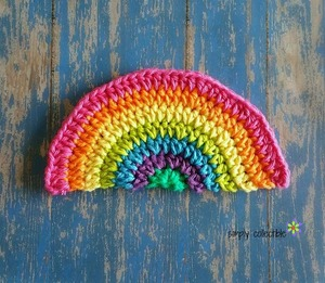Rainbow Daze Washcloth/ Dishcloth