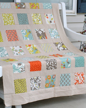 Styled and Sashed Modern Garden Quilt