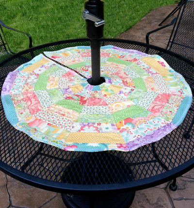 Umbrella Friendly Patio Table Topper