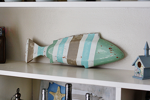 Striped Coastal Fish Decor