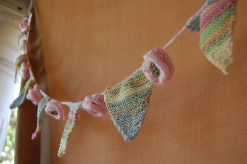 Shabby Chic Knit Bunting