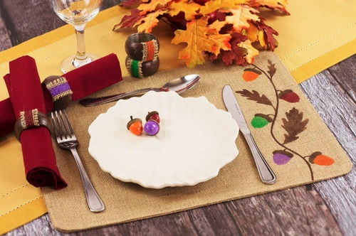 Thanksgiving Burlap Place Setting
