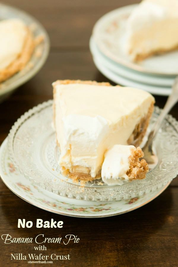 Banana Cream Pie With Nilla Wafer Crust