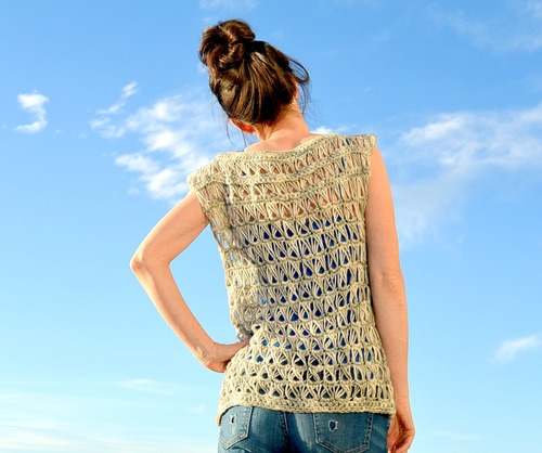 Broomstick Lace Crochet Top