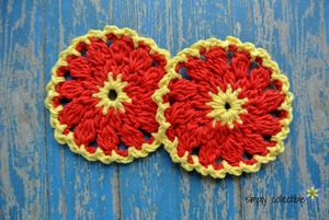 Firewheel Scrubbie Dishcloth Crochet Pattern