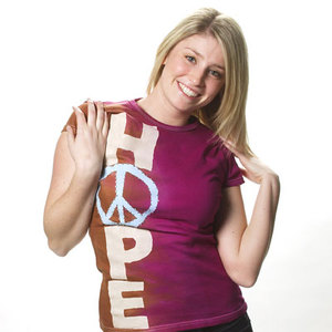 Peace and Hope Tie Dye Tee Shirt